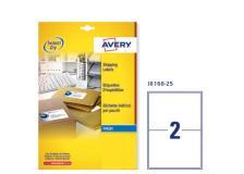 Etichetta adesiva j8168 bianca 25fg A4 199,6x143,5mm (2et/fg) inkjet avery - Z01735