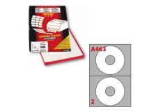 Etichetta adesiva a/463 bianca 100fg x cd ø117,5mm foro41mm (2et/fg) markin - Z01757