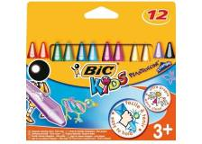 Astuccio 12 pastelli kids plastidecor triangle bic - Z01992
