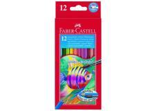 Astuccio 12 pastelli colorati acquerellabili red range faber castell - Z01995