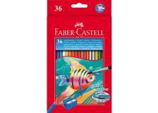 Astuccio 36 pastelli colorati acquerellabili red range faber castell - Z01997