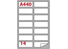 Etichetta adesiva a/440 bianca 100fg A4 99,1x38,1mm (14et/fg) markin - Z02053
