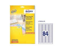 Etichette adesive l7656 bianche 25fg A4 46x11,1mm (80et/fg) inkjet/laser avery - Z02070