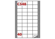 Etichetta adesiva c/548 bianca 100fg A4 45x29,7mm (40et/fg) markin - Z02078