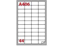 Etichetta adesiva a/406 bianca 100fg A4 47,5x25,5mm (44eti/fg) markin - Z02093