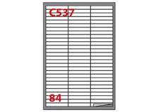 Etichetta adesiva c/537 bianca 100fg A4 67x10mm (84et/fg) markin - Z02116