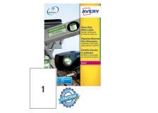 Poliestere adesivo l4775 bianco 20fg A4 210x297mm (1et/fg) laser avery - Z02161