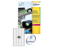 Poliestere adesivo l4778 bianco 20fg A4 45,7x21,2mm (48et/fg) laser avery - Z02163