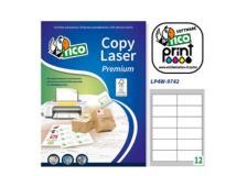 Etichette laser lp4w-9742 12etic./fg (97x42.3) 100fg bianche tico - Z02349