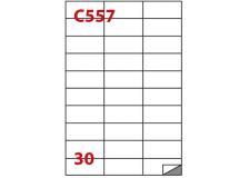 Etichetta adesiva c/557 bianca 100fg A4 70x29,7mm (30et/fg) markin - Z02353