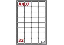 Etichetta adesiva a/407 bianca 100fg A4 47,5x35mm (32eti/fg) markin - Z02371