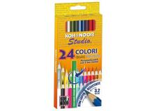 Astuccio 24 matite colorate studio gold kohinoor - Z02801