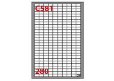 Etichetta adesiva c/581 bianca 100fg A4 19x10mm (280et/fg) markin - Z03654
