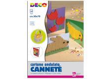 Set 10fg cartoncino ondulato 50x70cm cannete' colori assortiti cwr - Z04029