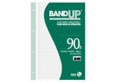 Ricambi forati rinforzati bandup A4 90gr 40fg 5mm c/margine bm - Z04226