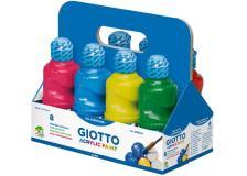 Schoolpack 8 flaconi tempera pronta acrilica 250ml colori assortiti giotto - Z04250