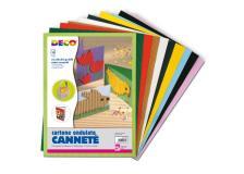 Set 10fg cartoncino ondulato 25x35cm cannete' colori assortiti cwr - Z04620