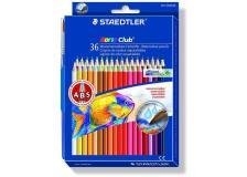 Astuccio 36 matite colorate 144 aquarell noris club staedtler - Z04626