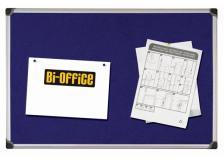 Pannello in tessuto 90x120cm blu felt board bi-office - Z04655