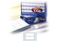 Scatola 6000 etichette adesive tab1-0722 72x23,5mm corsia singola tico - Z04747