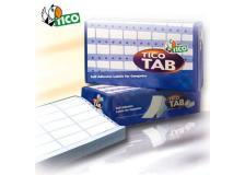Scatola 4000 etichette adesive tab1-0723 72x36,2mm corsia singola tico - Z04748