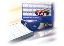 Scatola 3000 etichette adesive tab1-1074 107x48,9mm corsia singola tico - Z04752