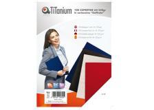 100 copertine A4 cartoncino goffrato 250g bianco titanium - Z04807
