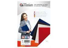 100 copertine A4 cartoncino goffrato 250g rosso titanium - Z04809