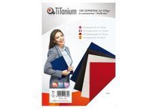 100 copertine A4 cartoncino goffrato 250g nero titanium - Z04810