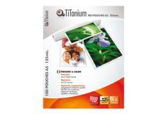100 pouches 80x111mm (a7) 125my titanium - Z04868