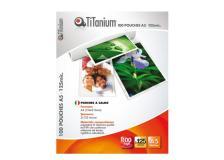 100 pouches 75x105mm 125my jumbo card titanium - Z04886