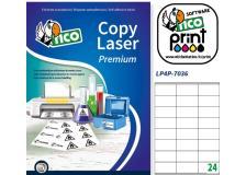 Poliestere adesivo lp4p bianco 70fg A4 70x36mm (24et/fg) laser tico - Z04934