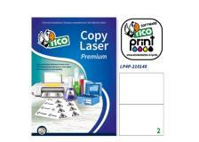 Poliestere adesivo lp4p bianco 70fg A4 210x148mm (2et/fg) laser tico - Z04935