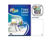 Poliestere adesivo lp4p bianco 70fg A4 210x297mm (1et/fg) laser tico - Z04936