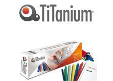 25 dorsi rilegafogli 16mm nero titanium - Z04998