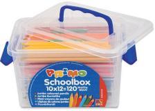 Schoolbox 120 pastelli colorati maxi jumbo 100 fsc in 12 colori primo - Z05229