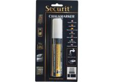 Blister 1 marcatore a gesso liquido bianco 7-15mm maxi securit - Z05454