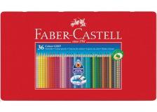 Astuccio metallo 36 pastelli colorati acquerellabili color grip faber castell - Z05704