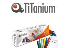 25 dorsi rilegafogli 4mm bianco titanium - Z05847