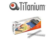 Scatola 50 dorsi metallo 8mm bianco 34 anelli titanium - Z05874