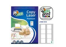 Etichette bianche lp4w-7070 8 etic./fg (70x70) 100fg A4 tico - Z05878