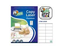 Etichetta adesiva LP4W bianca 100fg A4 105x48mm (12et/fg) Laser Tico - Z05881