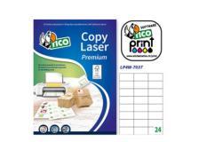 Etichetta adesiva LP4W bianca 100fg A4 70x37mm (24et/fg) Laser Tico - Z05889
