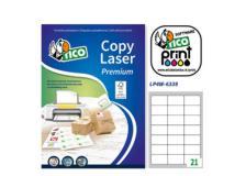 Etichetta adesiva LP4W bianca 100fg A4 63,5x38,1mm (21et/fg) Laser Tico - Z05891