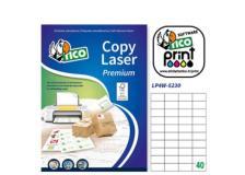 Etichetta adesiva LP4W bianca 100fg A4 52x30mm (40et/fg) Laser Tico - Z05897
