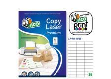 Etichetta adesiva LP4W bianca 100fg A4 70x25mm (36et/fg) Laser Tico - Z05899