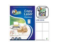 Etichetta adesiva LP4W bianca 100fg A4 105x140mm (4et/fg) Laser Tico - Z05907