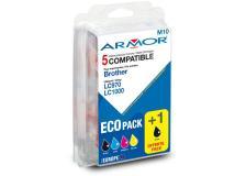Conf. multipla 5 cartucce lc 970/lc 1000 per c/brother (2bk 1c/m/y) - Z06031