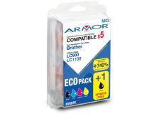 Conf. multipla 5 cartucce lc 980/lc 1100 per c/brother (2bk 1c/m/y) - Z06032
