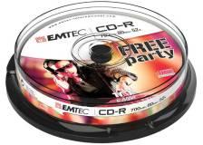 Cd-r emtec 80min/700mb 52x spindle (kit 10pz) - Z06314